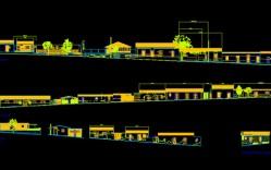 Plano: Poblado de La Higuera / Elevación de fachadas