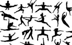 personas_Vectores de dancing_vector_silhouettes