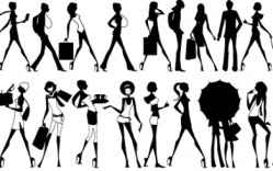 Mujeres Glamorosas en Vector