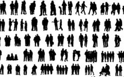 Personas en Grupo en Vector