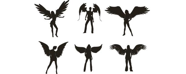 personas_Vectores de  sexy_angels