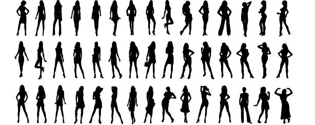 personas_Vectores de  sexy_fashion_model_girls