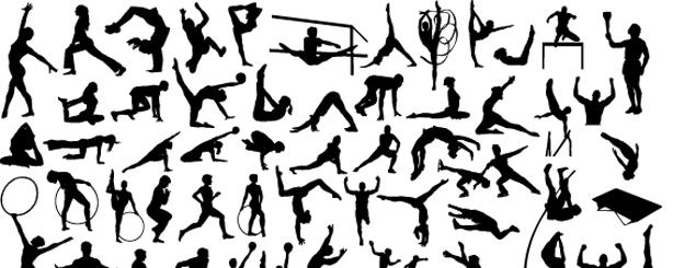 personas_Vectores de  sporttsman_athlets_gymnasts