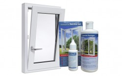 Portada Kit de limpieza para ventanas de PVC blanco