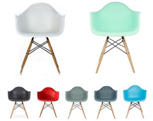 Butaca Eames DAW replica colores