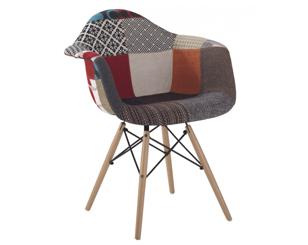Butaca Eames DAW replica patchwork