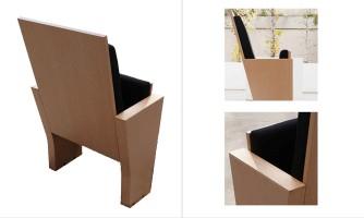 Butaca de madera para auditorio: Vera