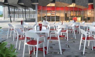 Sillas: Mobiliario Food court & Restaurant Dd