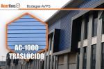 Placas Acerline en revestimiento y cubierta de Bodegas AVPS